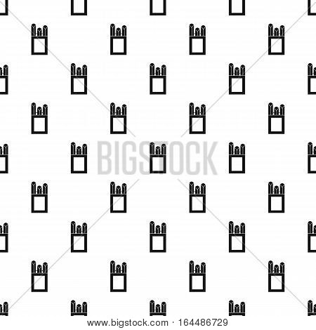 Crayons pattern. Simple illustration of crayons vector pattern for web