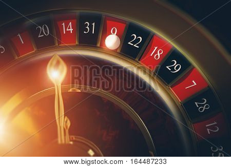 Las Vegas Casino Roulette 3D Rendered Illustration Concept. Casino Roulette Game