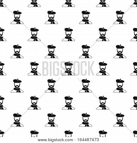 Painter in hat pattern. Simple illustration of painter in hat vector pattern for web