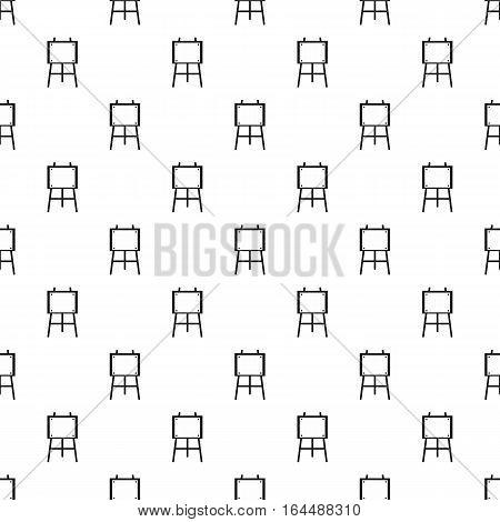 Easel for painter pattern. Simple illustration of easel for painter vector pattern for web