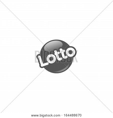 Grey lotto logo or icon isolated on a white background.