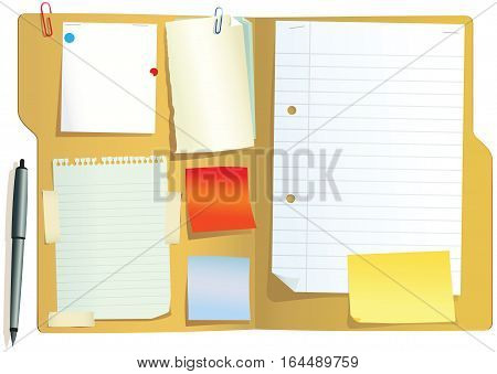 An illustration of a typical card document folder you can find in any office. Plenty of blank space for your own message.