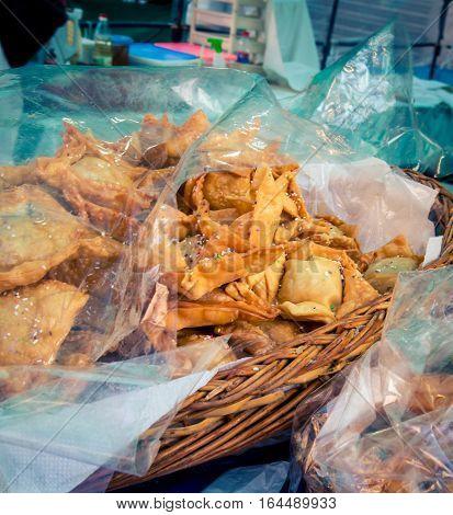 Deep fried puff pastry at the Feria de Mataderos
