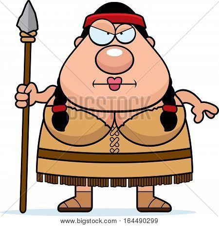 Cartoon Native American Spear