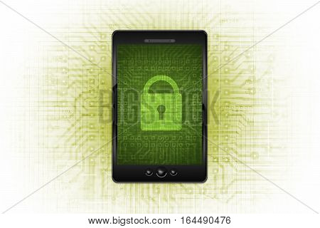 Secure Mobile Communication and Cellular Networks Abstract Concept Illustration.