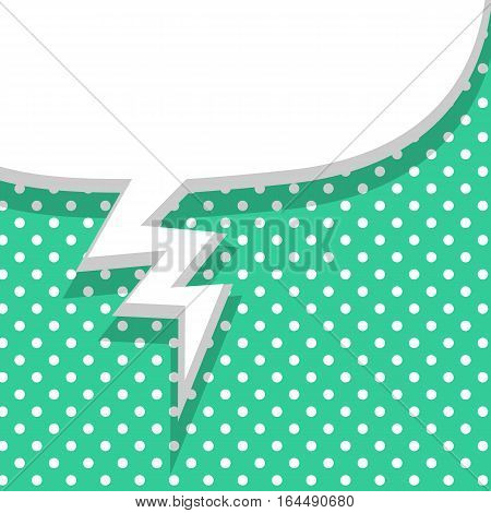 Blank green balloon template. Clear speech bubbles halftone dot background style pop art. Comic text talk dialog empty cloud. Creative idea conversation sketch drawing box