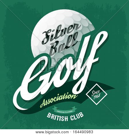 Golf Ball Symbol T Vector Photo Free Trial Bigstock