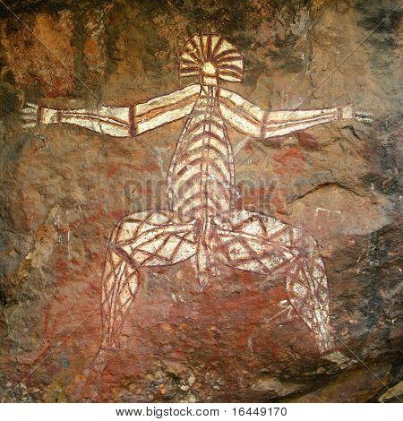 Наскальное искусство аборигенов в Какаду
