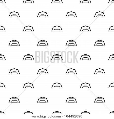 Large garage pattern. Simple illustration of large garage vector pattern for web