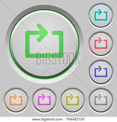 Media loop color icons on sunk push buttons