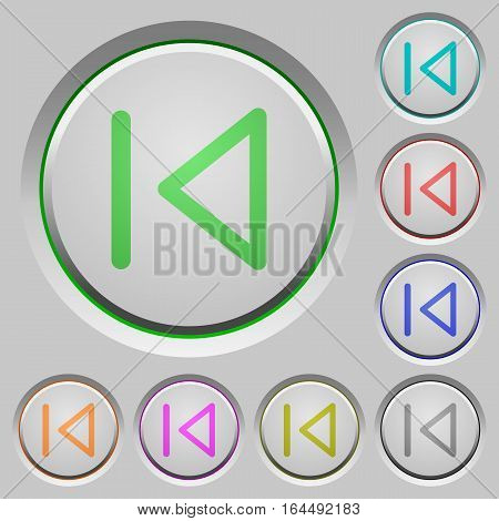 Media prev color icons on sunk push buttons