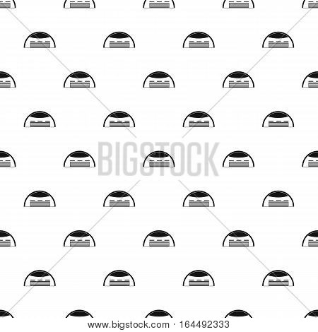 Round barn pattern. Simple illustration of round barn vector pattern for web