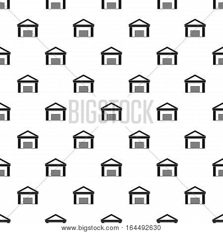 Big garage pattern. Simple illustration of big garage vector pattern for web