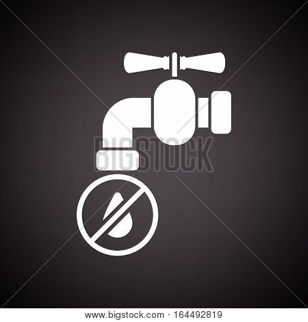 Water Faucet With Dropping Water Icon