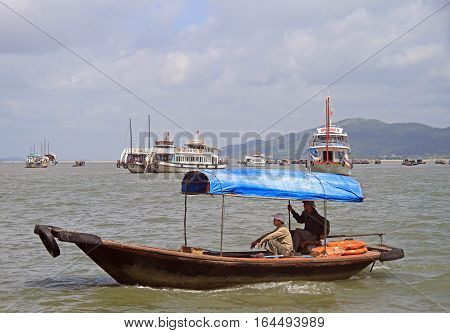 People Are Riding In Boat