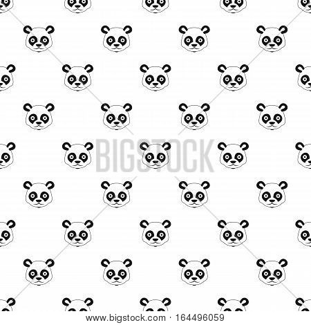 Panda pattern. Simple illustration of panda vector pattern for web
