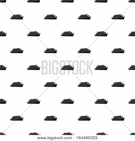 Wooden boats pattern. Simple illustration of wooden boats vector pattern for web