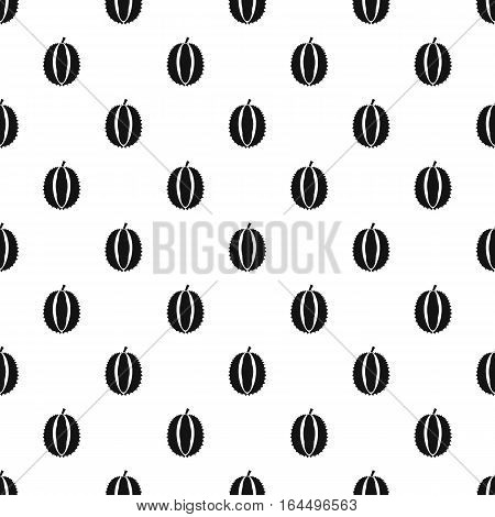 Durian fruit pattern. Simple illustration of durian fruit vector pattern for web