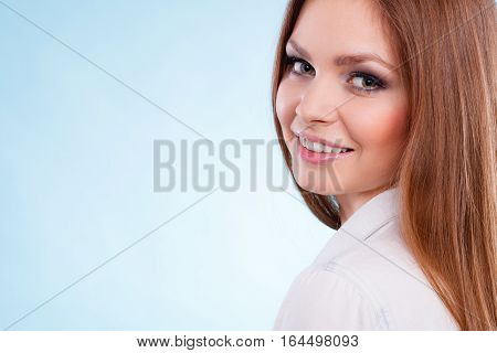 Lovely Glamorous Young Woman Portrait.
