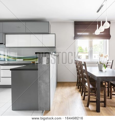Kitchen Open To Dining Area