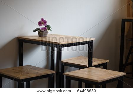 Blurred Restaurant table counter Bar shop background;bar coffee soft focus