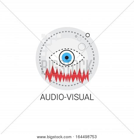 Audio Visual Technology Multimedia Icon Vector Illustration