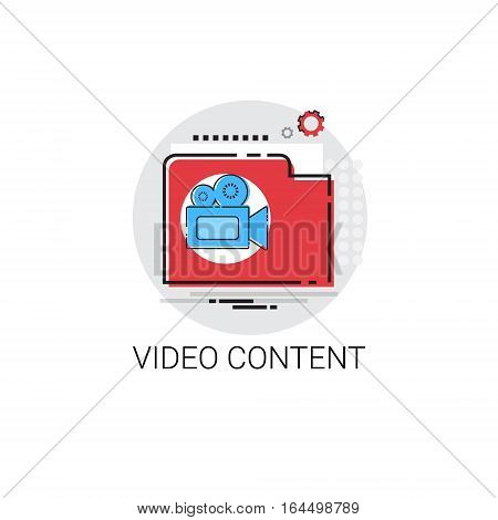 Video Content Visual Multimedia Icon Vector Illustration