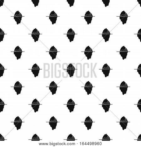 Iceberg pattern. Simple illustration of iceberg vector pattern for web