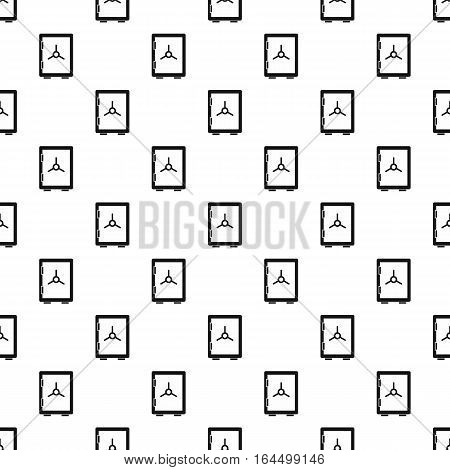 Safety deposit box pattern. Simple illustration of safety deposit box vector pattern for web