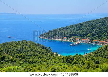 Trstenik Town On Peljesac Peninsula, Croatia.