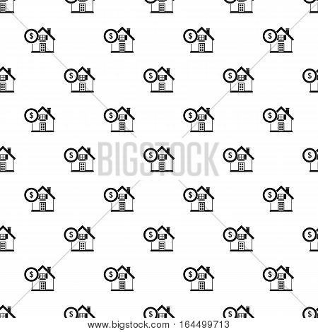 Buying home pattern. Simple illustration of buying home vector pattern for web