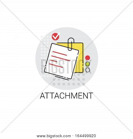 Attachment Note Work Office Tool Icon Vector Illustration