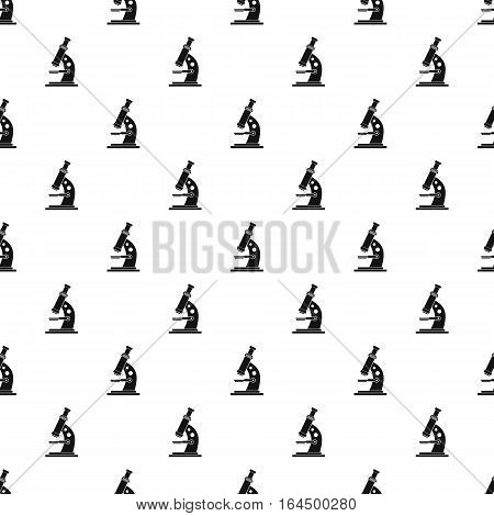 Microscope pattern. Simple illustration of microscope vector pattern for web