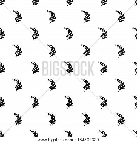 Black wing of birds pattern. Simple illustration of black wing of birds vector pattern for web