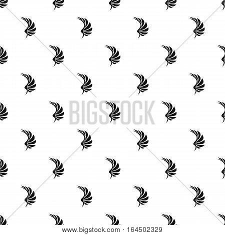 Black wing of birds pattern. Simple illustration of black wing of birds vector pattern for web