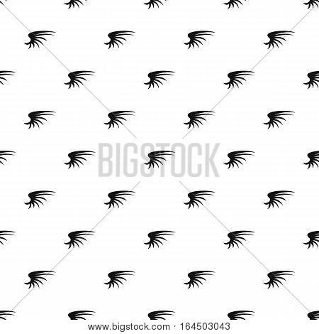 Fluffy birds wing pattern. Simple illustration of fluffy birds wing vector pattern for web