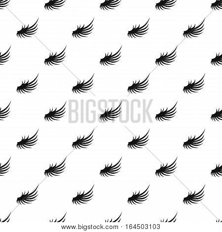 Fluffy angel wing pattern. Simple illustration of fluffy angel wing vector pattern for web