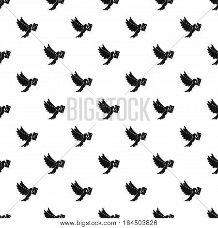 Dove with letter pattern. Simple illustration of dove with letter vector pattern for web