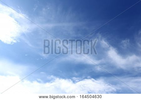 Cloud on blue sky in the daytime for design nature background.