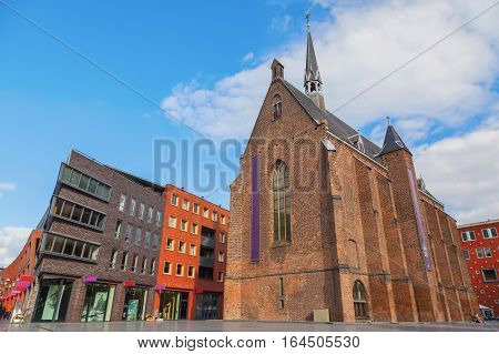 Historic of dutch castle with blue sky Nijmegen The Netherlands