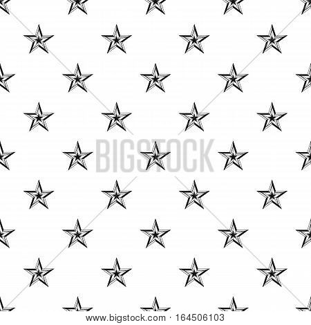 Five pointed star pattern. Simple illustration of five pointed star vector pattern for web