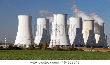 Cooling tower of Nuclear power plant Jaslovske Bohunice - Slovakia