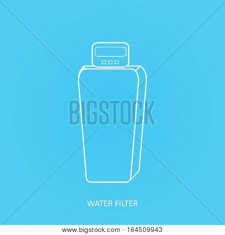 Tap water filter icon. Drink and home water purification filters. Vector water filter icon. Cabinet Water Softener filter vector  icon