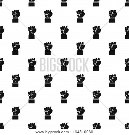 Clenched fist pattern. Simple illustration of clenched fist vector pattern for web