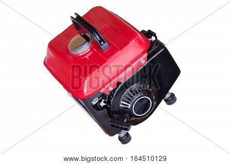 Modern Red Petrol Run Electrical Generator