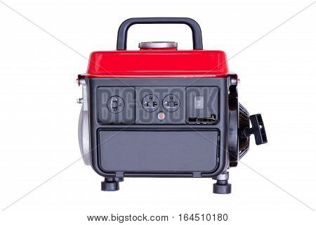 Modern Red Petrol Powered Generator