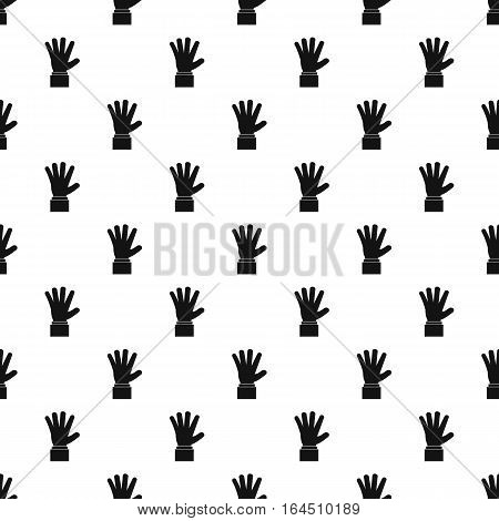 Palm up pattern. Simple illustration of palm up vector pattern for web