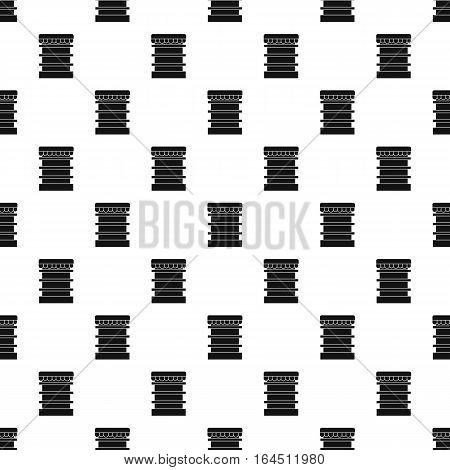 Showcase in shop pattern. Simple illustration of showcase in shop vector pattern for web