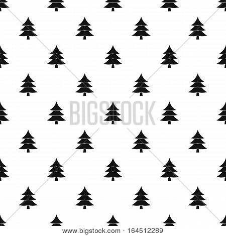 Snowy spruce pattern. Simple illustration of snowy spruce vector pattern for web