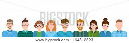 Business People Cartoon Character Set Man Woman Collection Flat Vector Illustration